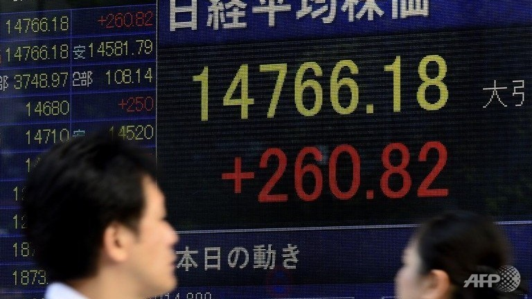 Asia shares mostly up