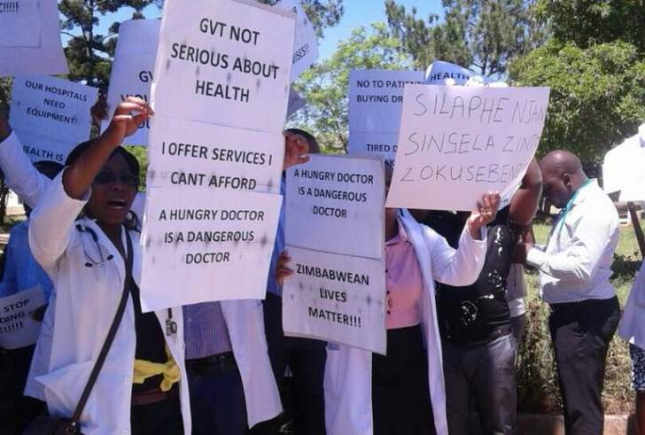 Doctors' strike widens