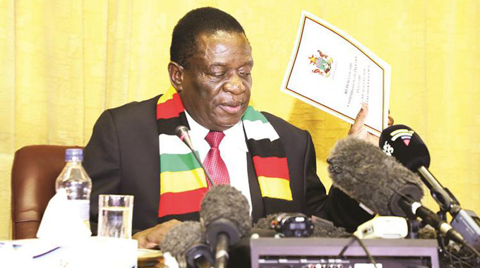 Mnangagwa says 'Mining, tourism to anchor recovery in 2019'