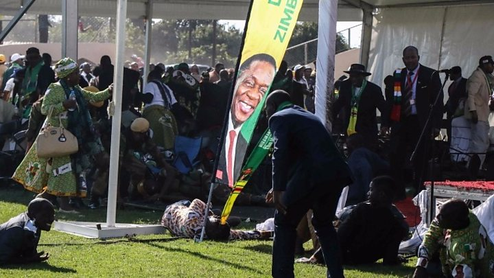Heavy security at Mnangagwa rallies