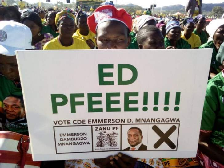 Barred from using Mnangagwa picture